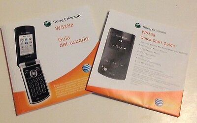AT&T SONY ERICSSON W518a USER GUIDE (CELL PHONE/INSTRUCTION/MANUAL/GUIDE)