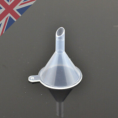 Small Plastic Funnels For Cosmetic Liquids Perfume Oil Filling Empty Containers