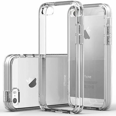For iPhone 5/ 5s Case Ultra Slim Thin Clear TPU Silicon Soft Back Cover