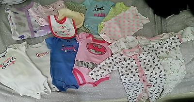 Baby girl clothes 0-6 months lot