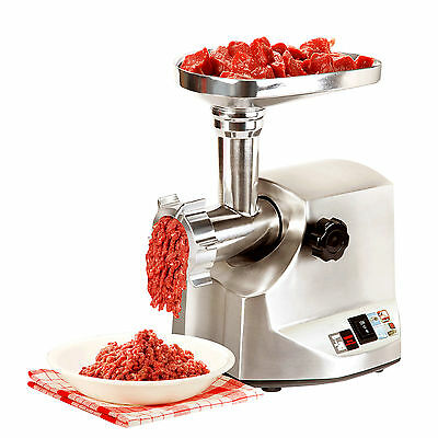 1800W Electric Meat Grinder Commercial Stainless Steel Sausage Stuffer Home