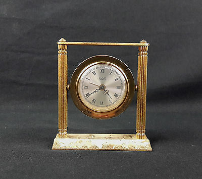 Ancien Reveil Mecanique Pendulette Solo 4 Jewels Old Alarm Clock