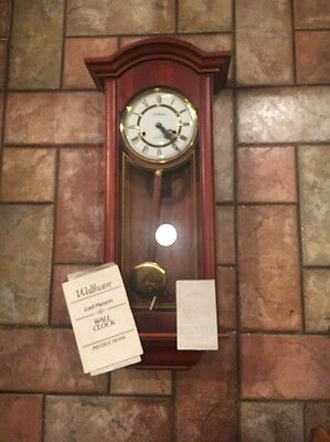 VINTAGE WALTHAM WALL CLOCK ..Lord Hanson..31 Day Chime..with Key..PARTS/REPAIR