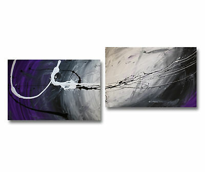 NEW 2 Piece Abstract Canvas Painting Set