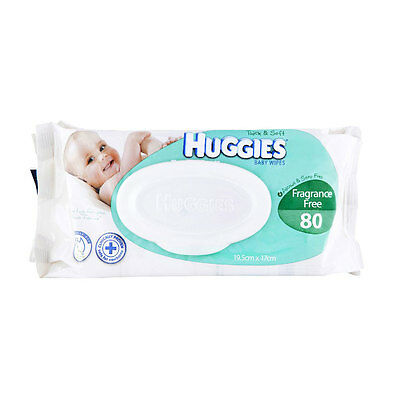 Huggies Baby Wipes Refill 80 pack - Unscented - NEW