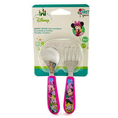 Minnie Easy Grasp Fork & Spoon 2 Piece Set - NEW
