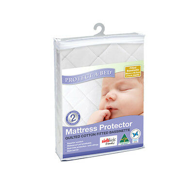 Protect-A-Bed Quilted Bassinett Mattress Protector 56x40.5cm - NEW