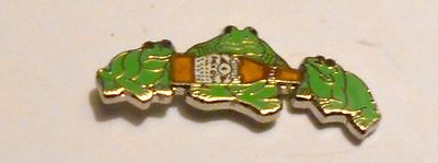 Budweiser Beer Frogs Hat Pin Ale Lapel Pin 1/2 inch Vintage Cloisenne Quality