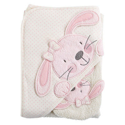 Babies R Us B is for Bunny Hooded Towel & Washmitt - NEW