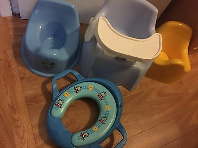 Rogerarmstrong Potty With Tray, Thomas And Friends Padded Toilet Seat +2 Potties