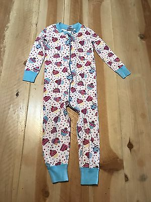 Hanna Andersson Toddler Girl 3 90 Cm Summer Cupcake One Piece Pajama