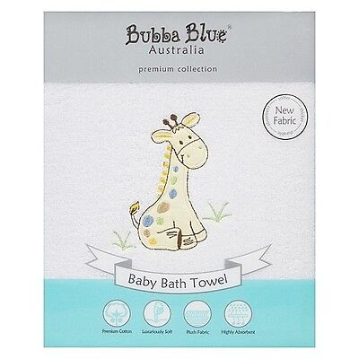 Brand New Bubba Blue Baby Cotton Bath Towel Jungle Jungle Soft
