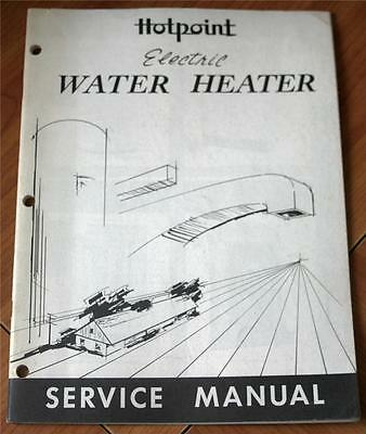 Hotpoint Electric Water Heater Service Manual 1959  Stapled Pamphlet Booklet