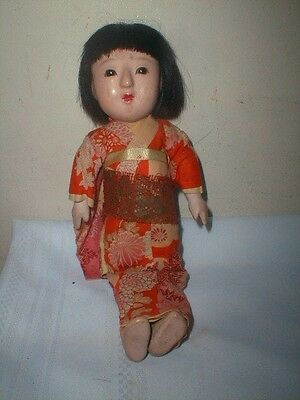 Early Antique Japanese Gofun Doll