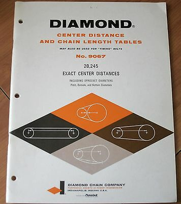 DIAMOND Center Distance and Chain Length Tables No. 9067: Booklet Guide VG