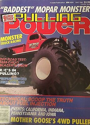 """VINTAGE MONSTER TRUCK MAGAZINE """"PULLING POWER"""" May 88"""