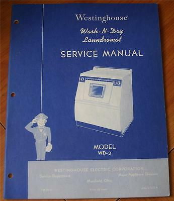 Westinghouse Model WD-3 Service Manual - VG Stapled Paperback Booklet Appliance