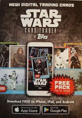STAR WARS 40th Anniversary  FREE Digital pack Card x 8 Loot Code unused TOPPS