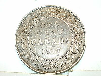 1917 Canada Large Cent, circulated,King Edward VII