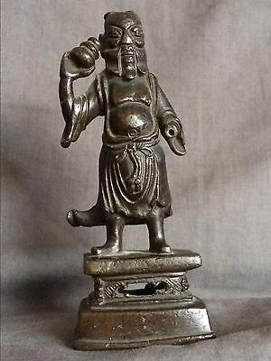 Chinese Ming Dynasty Bronze Figure of Attendant from 16th to 17th Century