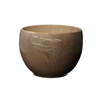 NEW Swirled Clay Pot in Bunny Brown