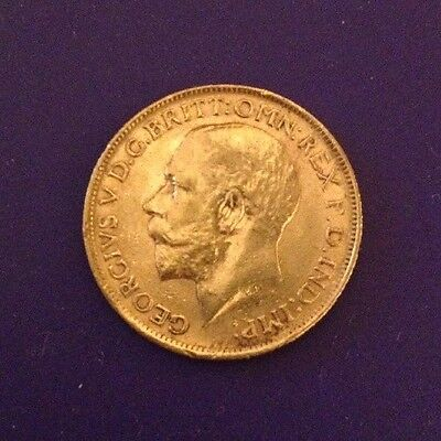 1913 King George V British Gold Sovereign, .2354 Ounces Gold
