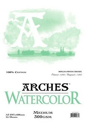 Arches  Watercolour Pads. Choose your Size and Texture