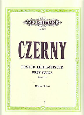 Czerny - First Tutor Op 599 - Piano - peters edition 2402 - AMEB