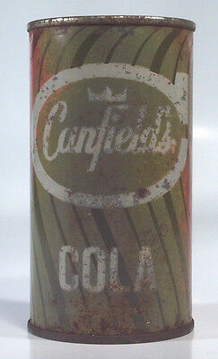 Vintage Canfield's Cola Soda Pop 12oz Steel Can AJ Canfield Co Chicago IL