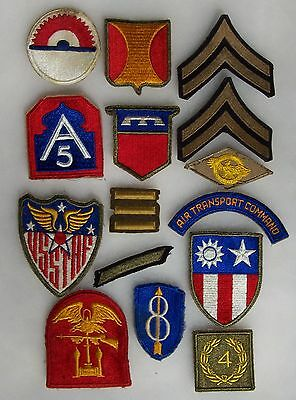 Group Of 15 Ww 2 U.s. Army Patches Lot 3