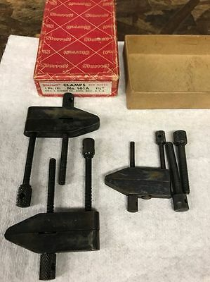 Starrett clamps #161A set with extra Lufkin clamp #910A