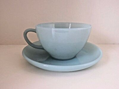 Fire King Turquoise Delphite Blue Coffee Tea Cups & Saucers 1950s MANY AVAILABLE