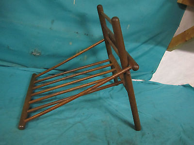 Vintage wood Wooden Gout Foot Stool/Leg Rest Medical Furniture