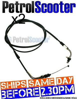 2 Throttle Cable Baotian BT125T-2 Chinese Import Scooter 125cc Yiying Zhen Glow