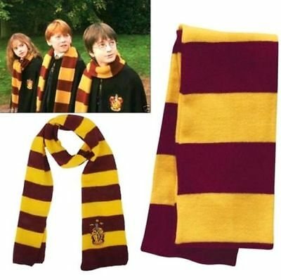 Harry Potter Gryffindor House Cosplay Knit Warm Cotton Costume Scarf Wrap Gift *