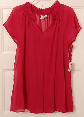 Women's Sheer Pink Duo Maternity Top Blouse Size Large NWT