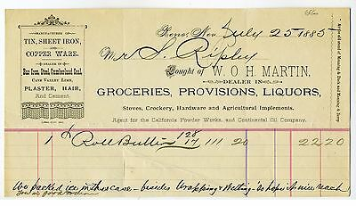 West – Nevada – Reno  - Mercantile Store Groceries  Provisions  Liquors  Billhea