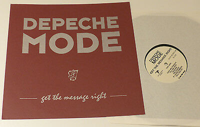 DEPECHE MODE Get The Message Right Vinyl Record LP Italian Duck 25 550 1992 EX