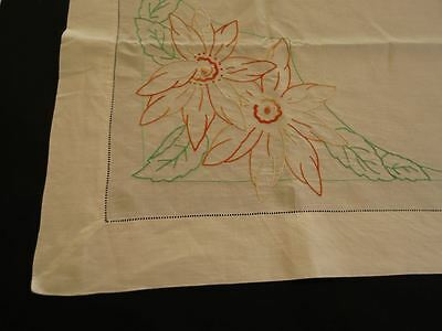 Vintage Embroidered Linen Supper Cloth