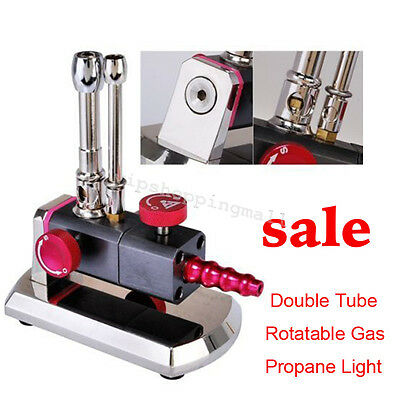 Compact Micro Bunsen Burner Double Tube Gas Propane Light Dental Lab Tools Fine