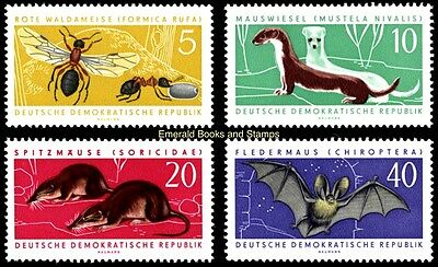 EBS East Germany DDR 1962 Protected Animals (I) Michel 869-872 MNH**