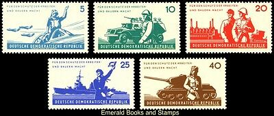 EBS East Germany DDR 1962 National Army Nationale Volksarme Michel 876-880 MNH**