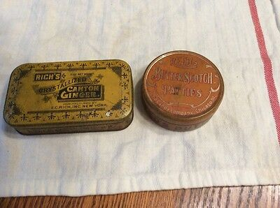 Vintage Candy Tin Lot