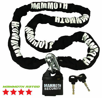 Mammoth 10Mm Security Chain 1.8M With 11Mm Pad Lock Best Safety For Motorbike