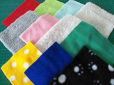 Fleece offcuts Guinea pig/hedgehog etc bedding CRAFTS new remnants