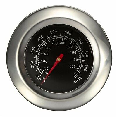"""50~500 Degree Roast Barbecue BBQ Smoker Grill Thermometer Temp Gauge Dia 3"""" SP"""