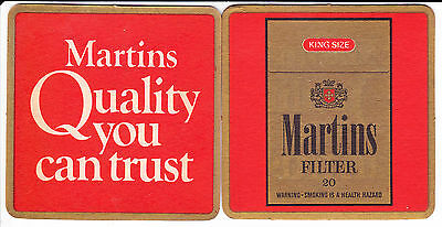 Beer Coaster Martins Filter Cigarette - Brand New #1
