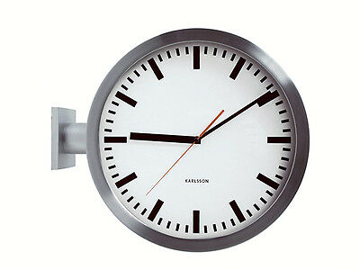 Karlsson Double Sided Station Wall Clock 38cm Dia