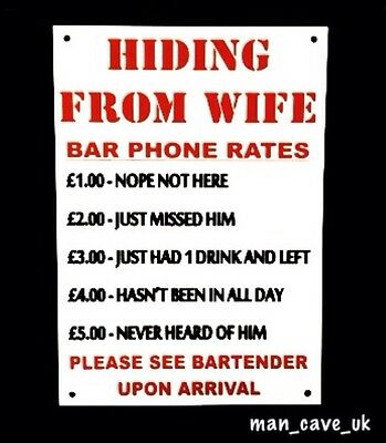 Funny Sign - Wall Plaque - Novelty - Pub - Home Bar - Man Cave - Funny Gift