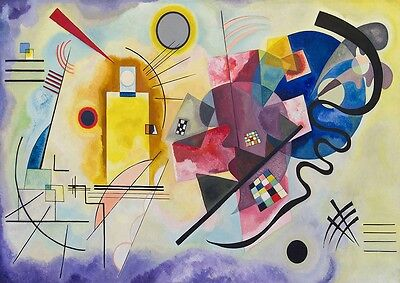 Abstract Yellow Red Blue By Wassily Kandinsky Poster Art Prints Wall Decoration